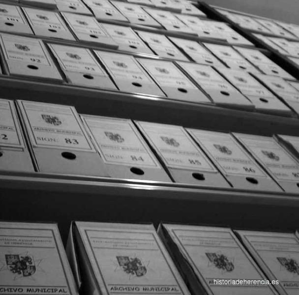 Actual clasificación y conservación de documentos en el archivo municipal de Herencia