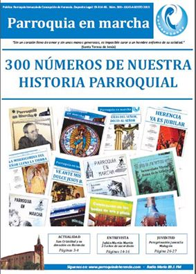 300 numeros del periódico parroquia en Marcha