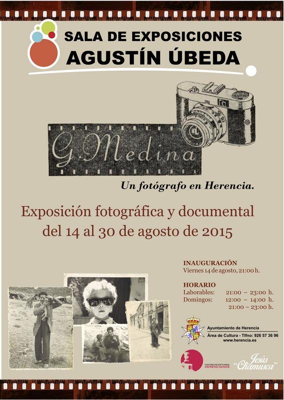 Cartel de la exposición Generoso Medina, un fotógrafo en Herencia