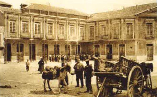 Plaza del Generalísimo (donde estaba situado la Jefatura Local del Movimiento)
