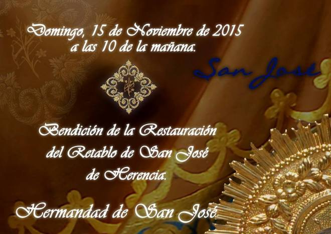 Restuaracion retablo ermita de san jose de Herencia
