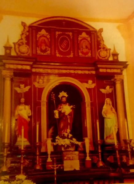 Retablo de la ermita de san José de Herencia antes de su restauración