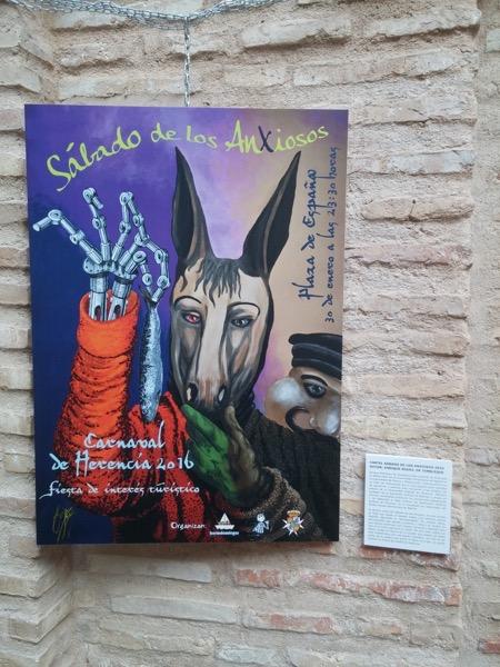 exposicion carteles sabado de los ansiosos del carnaval de herencia2