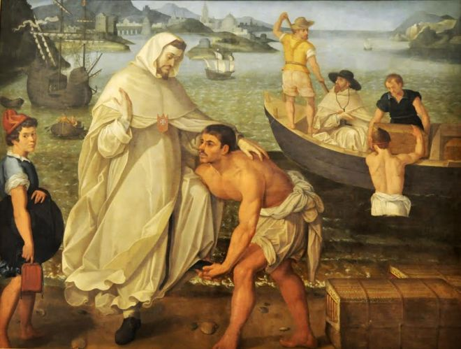 San Pedro Nolasco embarca para redimir cautivos