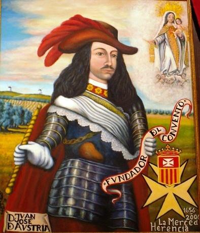 Juan José de Austria, fundador del convento de la Merced de Herencia, pintado por Jesús Madero